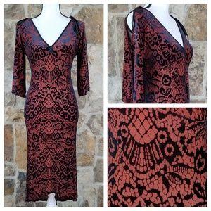 Alexia Admor XS Velvet Slit Sleeves Dress